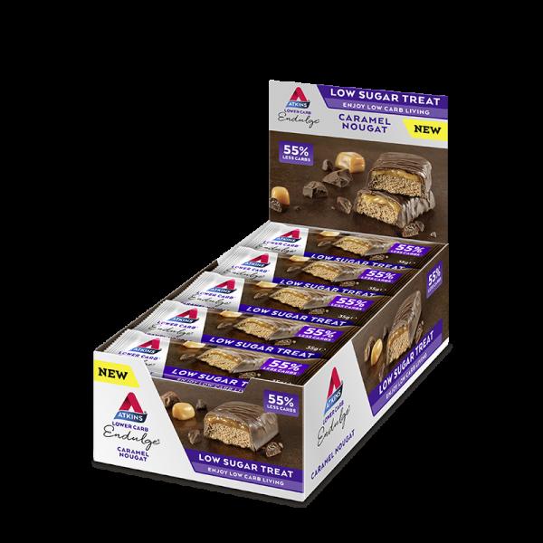 Vorteilspack! Chocolate Caramel Nougat Advantage Bar von Atkins 15x35g
