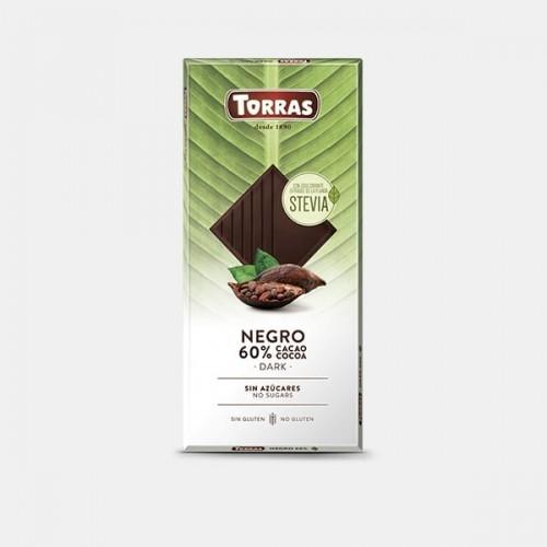 Zartbitter Schokolade Erythrit & Stevia - Torras 100g
