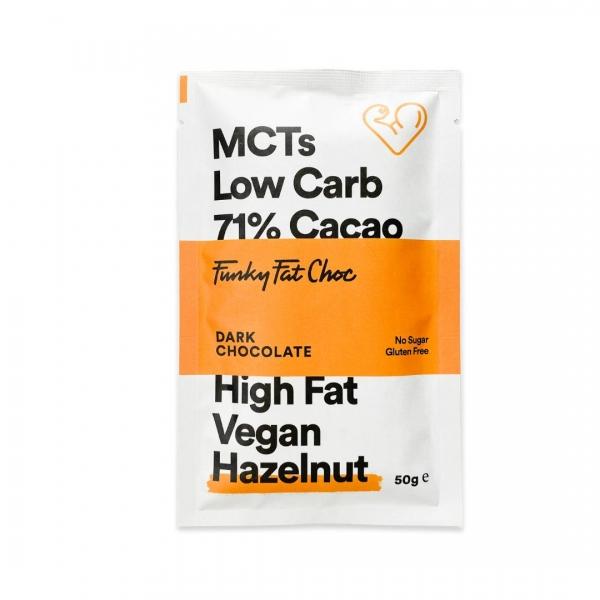 MCT Schokolade Erythrit Haselnuss - Funky Fat Choc