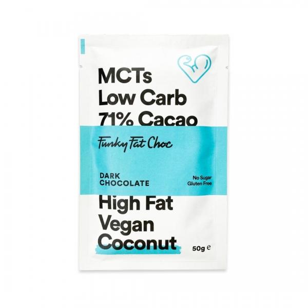 MCT Schokolade Erythrit Kokos - Funky Fat Choc