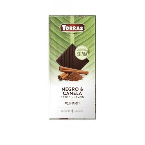 Zartbitter Zimt Schokolade Erythrit & Stevia - Torras 125g