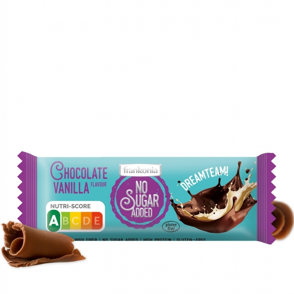 Chocolate Vanilla Dreamteam Riegel - No Sugar Added Frankonia