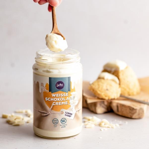 Weiße-Schokoladen-Creme 300g mit Erythrit gesüßt von Soulfood LowCarberia