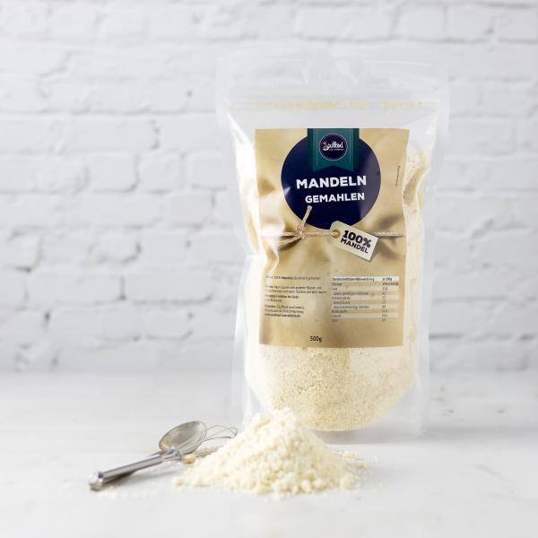 Gemahlene Mandeln blanchiert von Soulfood LowCarberia 500g