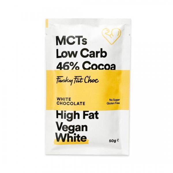 MCT Schokolade Erythrit Weiße Schokolade - Funky Fat Choc