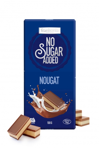 Nougat Schokolade - No Sugar Added Frankonia