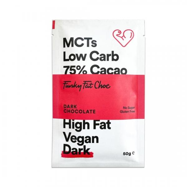MCT Schokolade Erythrit Dark - Funky Fat Choc