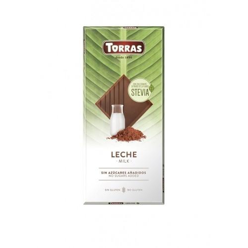 Vollmilch Schokolade Erythrit & Stevia - Torras 100g