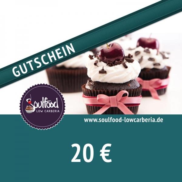 Gutschein 20 € - Für Soulfood LowCarberia Shop, Café & Restaurant in Nürnberg