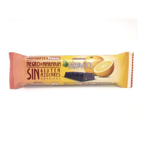 Zartbitter Orange Schokoladenriegel Erythrit & Stevia - Torras 35g