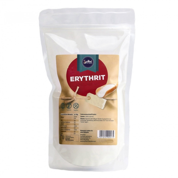 Erythrit + Stevia von Soulfood LowCarberia 1kg